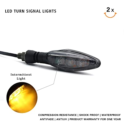 MFC PRO Universal Hi-quality LED Turn Signal Light for Kawasaki Ninja 650 650R Z800 ZX6R Honda MSX125 Grom125 Suzuki GSXR 600/750/1000 GS500F Yamaha YZR R1/R3/R6 (Smoke): Automotive