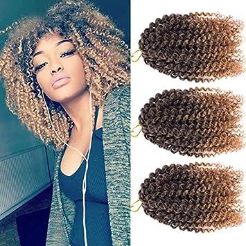 Amazon Com 3pcs Pack 10 Afro Kinky Twist Hair Crochet Braids