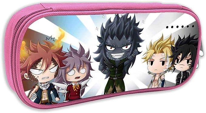 Fairy Tail-Dragon Slayer - Estuche para lápices, color negro para estudiantes, niños y niñas: Amazon.es: Juguetes y juegos