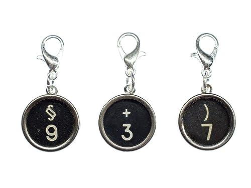 miniblings número Deseado Encanto máquina de Escribir máquina de Escribir número Clave Negro, 2.