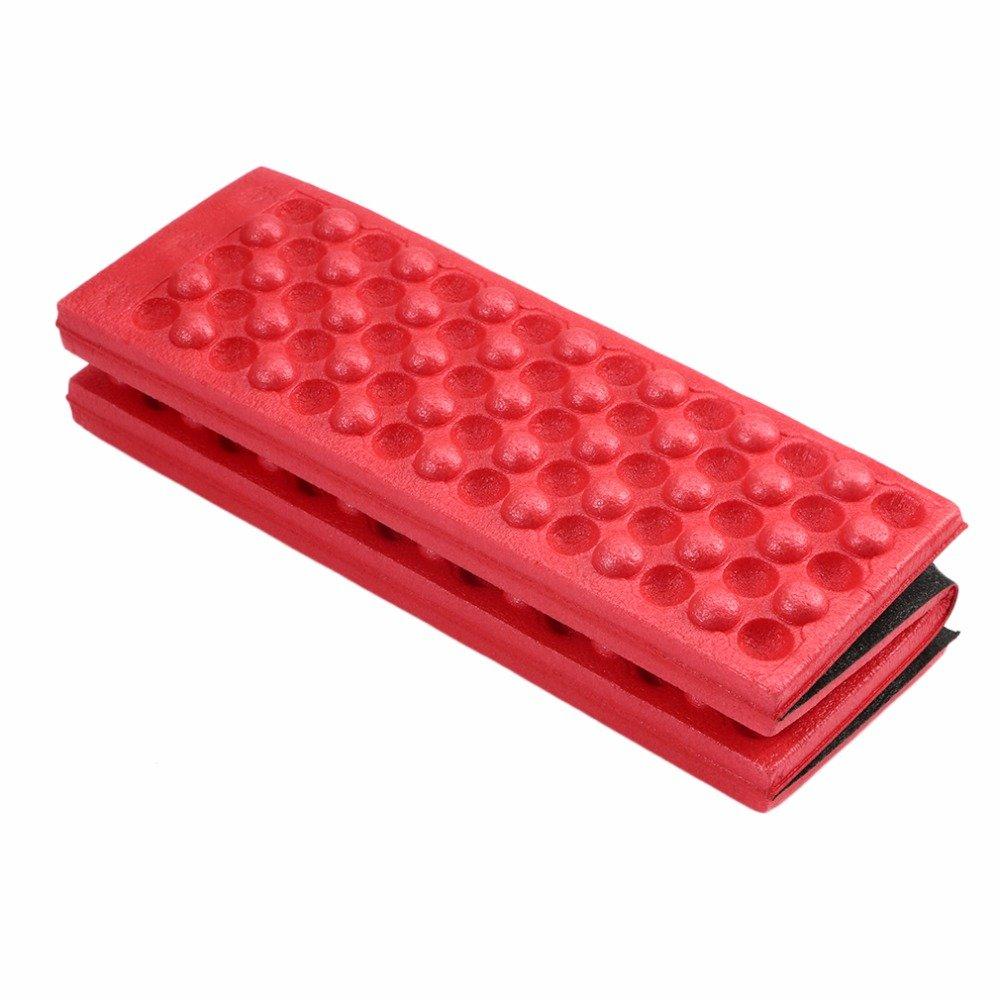 Ezyoutdoor 5ピースパック折りたたみ式折り畳みアウトドアキャンプマットシートFoam XPEクッションポータブル防水椅子ピクニックマットパッド B073TTSDNT レッド
