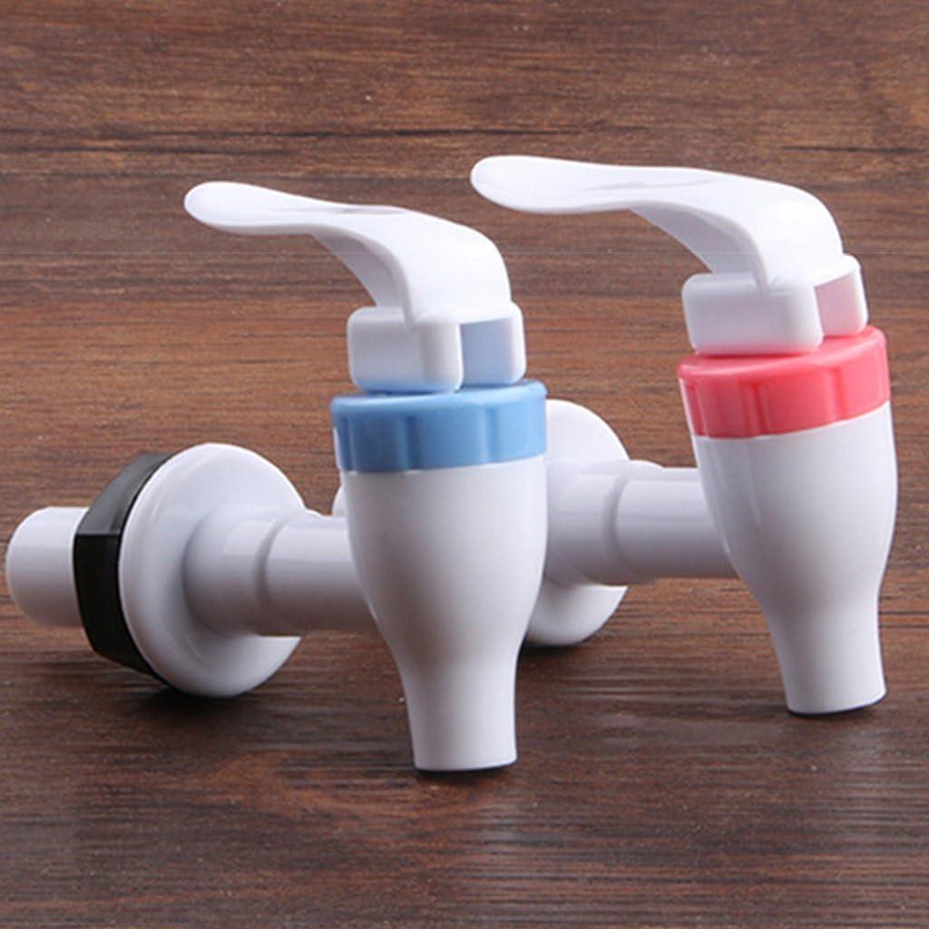 SimpleLife Tama/ño Universal Tipo de Empuje Dispensador de Agua de pl/ástico Grifo del Grifo Pieza de Repuesto Azul Blanco
