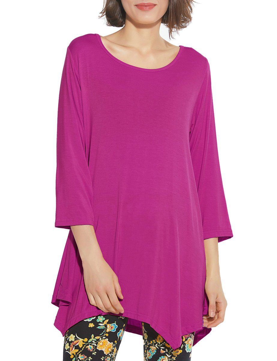 BELAROI Women 3/4 Sleeve Swing Tunic Tops Plus Size T Shirt 904