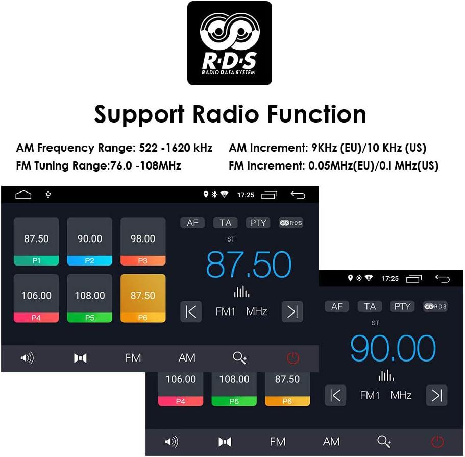 Hizpo Android 9.0 Autoradio st/ér/éo pour Mercedes-Benz Classe E W211 2002-2009 Mercedes-Benz Classe G W463 2001-2008 Mercedes-Benz CLS W219 2001-2011 WiFi Bluetooth Commande au Volant