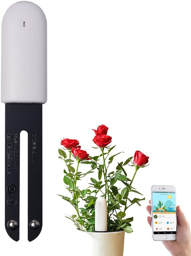 Vegtrug Flower Care Soil Tester Intelligent 4 In 1 Bluetooth Plant Sensor Moisture Meter Plants Automatically Monitors Humidity Light Fertility Temperature Ios And Android Garten