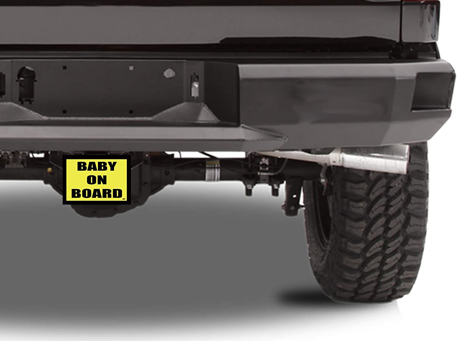 Rogue River Tactical Baby of Board Trailer Hitch Cover Plug Gift Idea for New Parents
