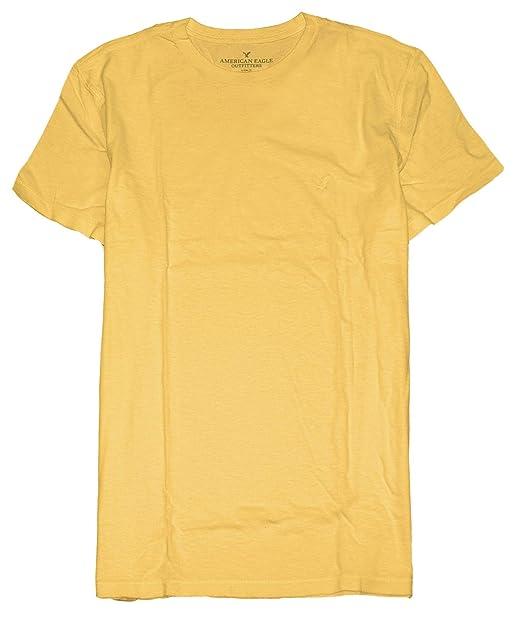 f0c4f87a American Eagle Men's Soft Crew or V-Neck Plain Basic T-Shirt 031 |  Amazon.com