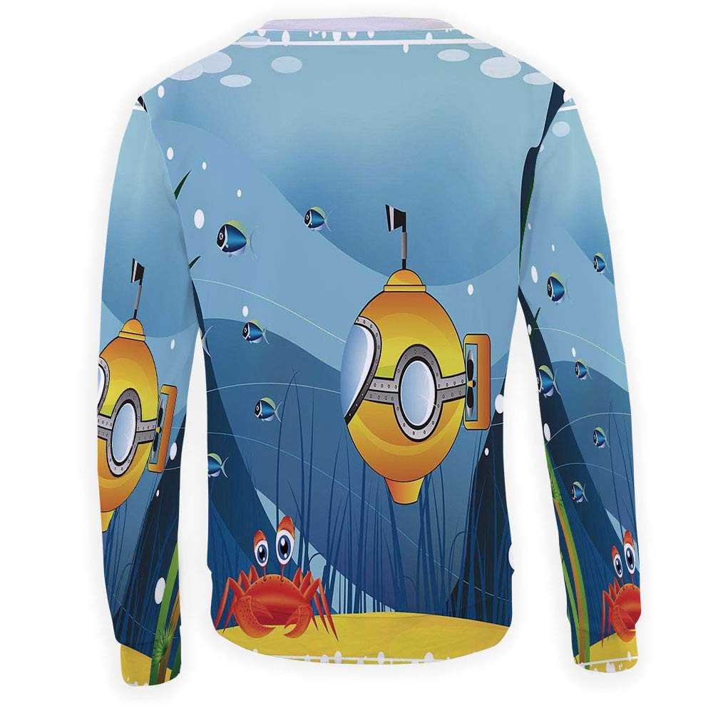 MOOCOM Unisex Yellow Submarine Decor Sweatshirts Crewneck