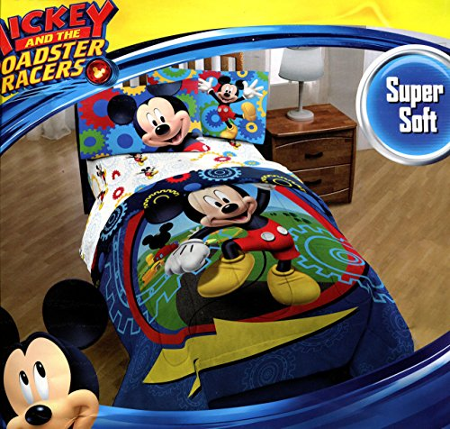 Clubhouse Mouse Mickey Sheets (Mickey Mouse Clubhouse Twin Comforter & Sheet Set (4 Piece Bed In A Bag) + HOMEMADE WAX MELT)