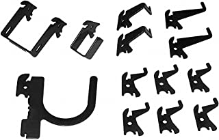 product image for Wall Control Steel Slotted Toolboard Hook Kit, Black Steel Black Scratch Resistant E-Coat 35-K-BASBK - 1 Each