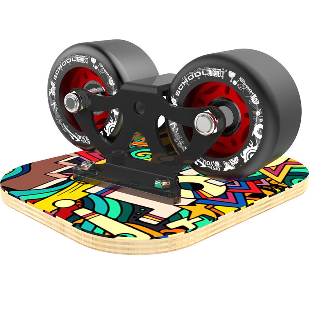 Hihey 1 Pares Skate Board Drift Board para Scooter Road Drift Plate Antideslizante Skateboard Sport Maple Pedal Ruedas de PU Scooter port/átil Road Drift Skates