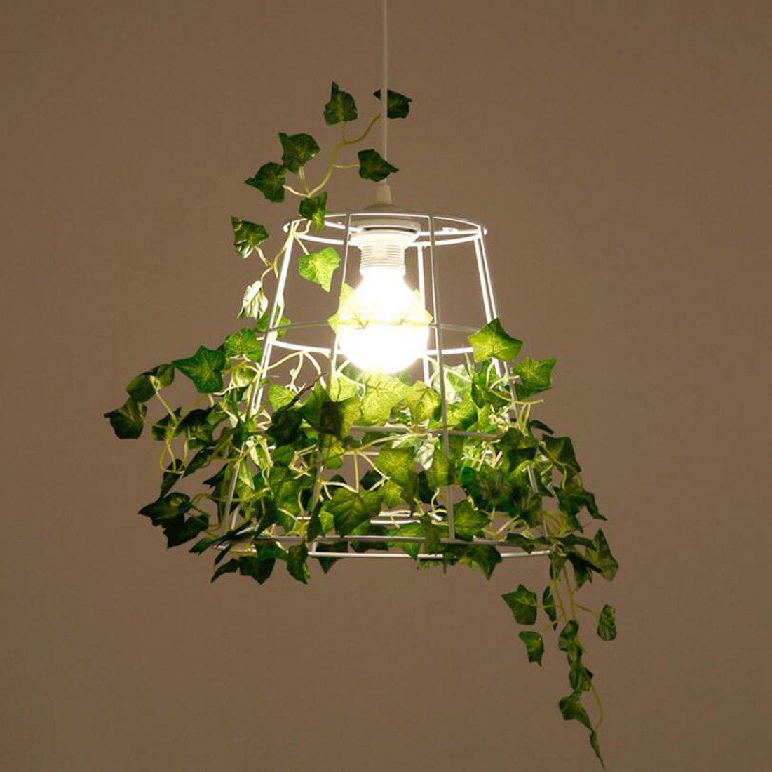 Ydxwan LED Kreative Eisen Birdcage Pflanze Kronleuchter Kronleuchter Weiß Kronleuchter Restaurant/Wohnzimmer/Schlafzimmer/Balkon/Florist Amerikanischen Kronleuchter E27 Lichtquelle (Ohne Birne)