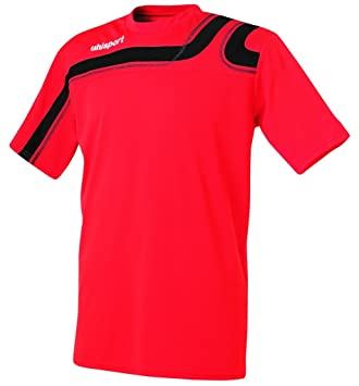 Uhlsport Progressive Jersey Short Sleeve, Unisex, Trikot Progressiv  Kurzarm, rot/schwarz