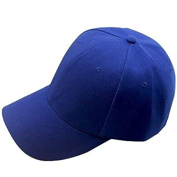 Amlaiworld_Gorras de béisbol de Hombre Mujer Sombrero Plano de Hip Hop Snapback Niños niñas Viseras (Azul): Amazon.es: Deportes y aire libre