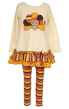 6bbd99f805c8f Amazon.com: Bonnie Jean Allison Ann Thanksgiving Turkey Legging Set ...