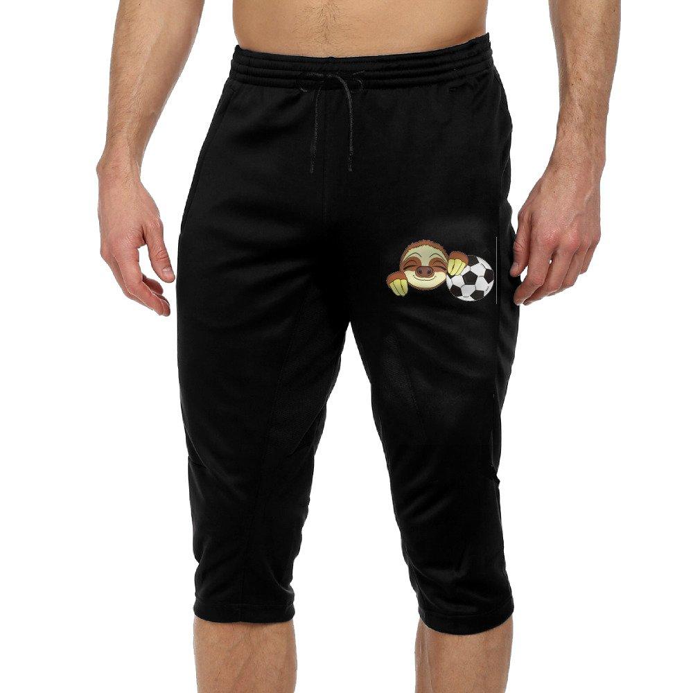 Funny Slow Sloth Boys Performance Three-Quarter Drawcord Crop Jogger Pants M