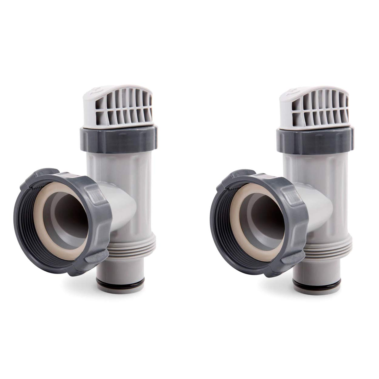 Intex Above Ground Plunger Valves with Gaskets & Nuts Replacement Part (2 Pack)