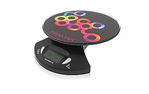 Framar Digital Scale, Hair Color Scale, Kitchen Scale, Food Scale, Gram Scale - Elegant Black