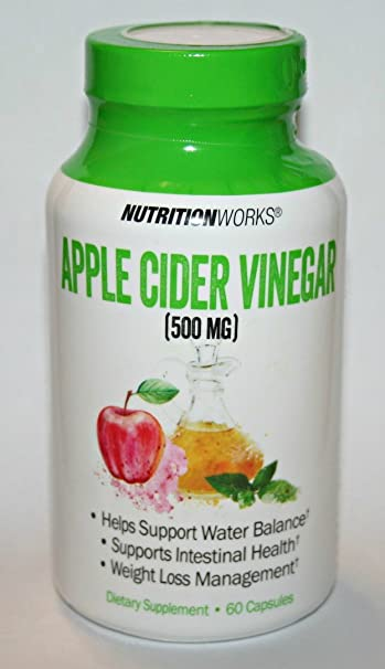 Amazon Com Nutritionworks Apple Cider Vinegar Dietary Supplement 60