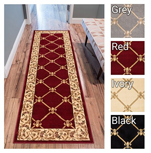 Red Carpet Runners Sale (Patrician Trellis Red French European Formal Traditional 2x7 (2'3