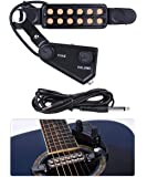 TraderPlus 12 SoundHole Guitar Pickup Acoustic Electric Transducer for Acoustic Guitar Magnetic Preamp with Tone and…