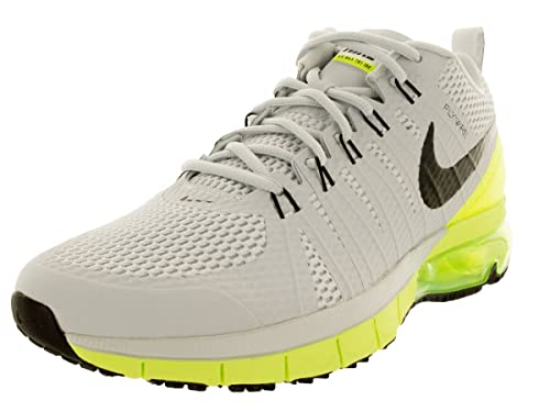 separation shoes 38494 e5650 Nike Men s Air Max TR180 Pure Platinum Black Volt Training Shoe 8 Men US   Buy Online at Low Prices in India - Amazon.in
