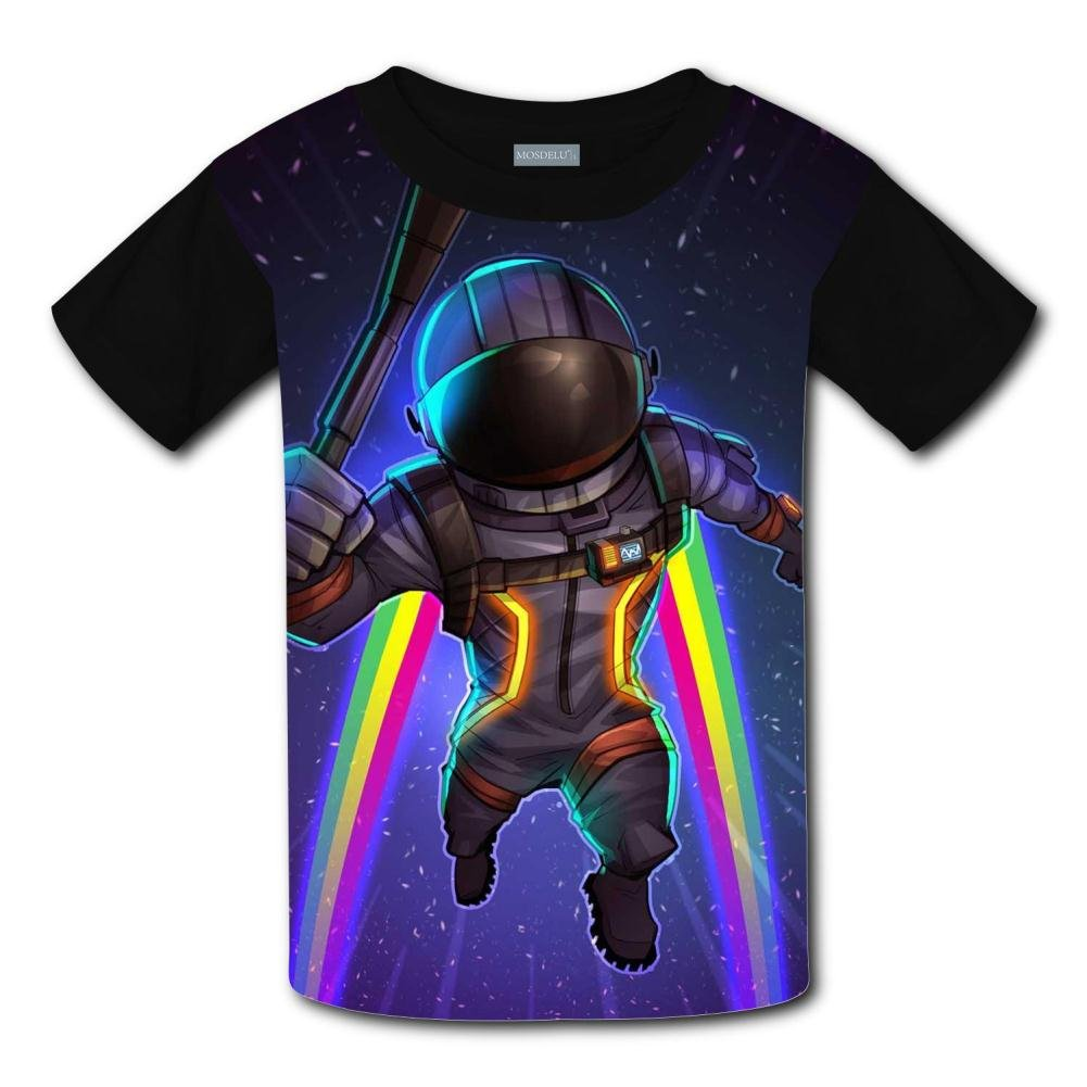 Youth 3D Fortnite Astronaut T-Shirt Kids Short Sleeve Crew Neck Tee Shirt REE05