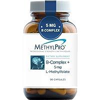 MethylPro B-Complex + 5mg L-Methylfolate (90 Capsules) - Professional Strength B...