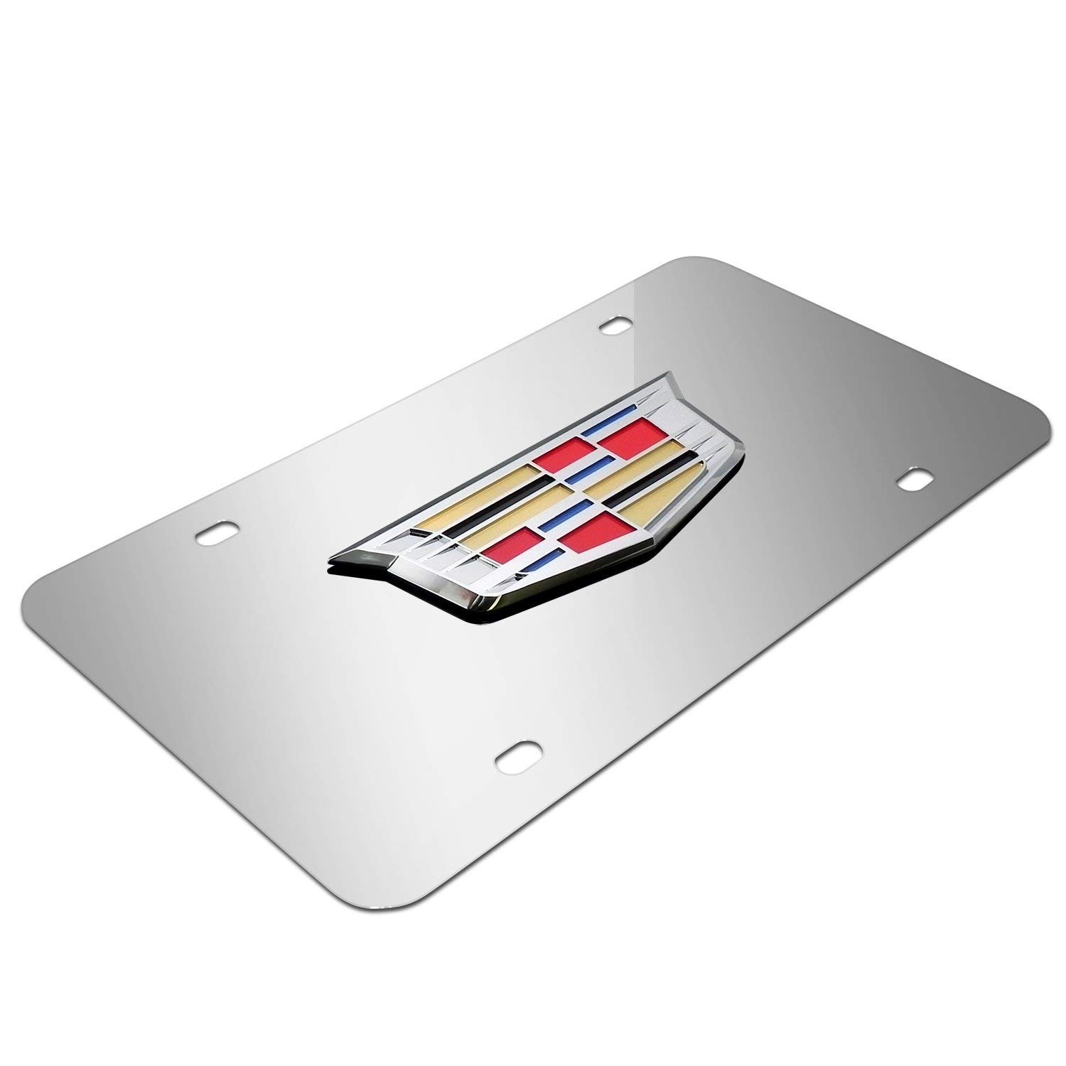 Goodframe for Cadillac Stainless Steel License Plate Frame Silver Chrome 3D Front License Plate Covers for Cadillac All Models