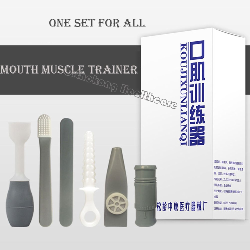 Medical Tongue Muscle Trainer Recovery Oral Mouth Muscle Rehabilitation Language Barrier Swallowing Disorder Aphasia Training Adults Aged And Children (Oral Muscle Trainer Sets)