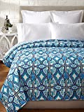 Trina Turk Pismo Coverlet, Blue, King