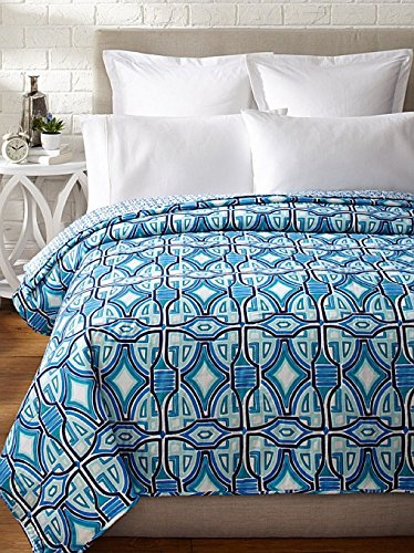 Trina Turk Pismo Coverlet, Blue, King by Trina Turk