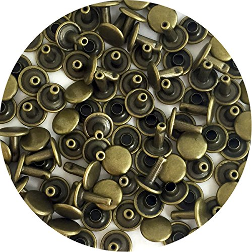 - Springfield Leather Company's Antique Brass Medium Double Cap Rivets 100pk