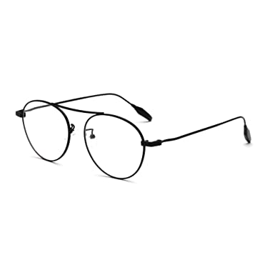 Amazon.com: Prescription Optical Glasses Frames Oversized Big Metal ...