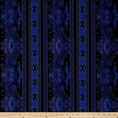 Jinny Beyer Burano Lace Border Periwinkle Fabric By The Yard