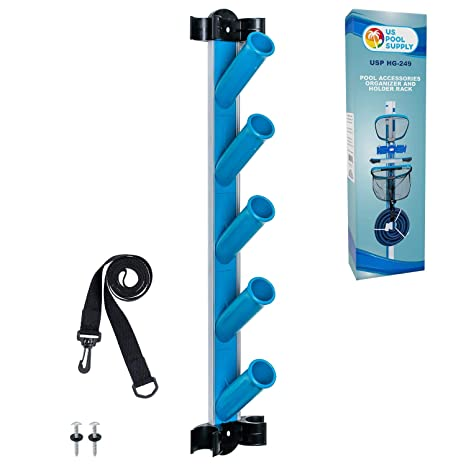 US Pool Supply Pool Cleaning Accessory Organizer and Holder Rack - Store  Poles, Brushes, Nets, Vacuums - Caddy Hanger for Swimming Pool Spa  Attachment ...