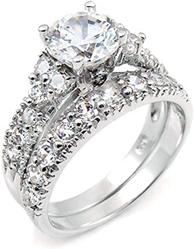 25th Anniversary Gift Wedding Gorgeous KABANA 925 Sterling Cubic Zirconia  Solitaire Ring Size 6 34 Engagement Ring