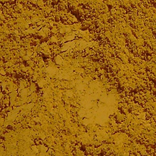 Dark Yellow Ochre France Natural Mineral Pigment - Pigments for Artistic and Decorative Painting, Concrete, Clay, Lime, Plaster, Masonry and Paint Products (150 ML | 5 OZ) ()