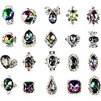 SUPVOX 48pcs Nail Art Rhinestones Crystal Gems DIY Nail Jewelry for Nail Art Decorations Supplies (Random Style)