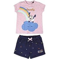 Cerdá - Conjunto Ropa Bebe Niña Disney Minnie Mouse - Camiseta + Pantalon de Algodón
