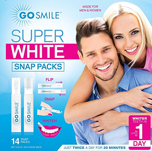 GO SMILE Super White Professional Teeth Whitening System (14 single-use, applicators), Clinically proven up to 7 shades whiter in a week, Dentist Recommended, Professional strength, Award-Winning Be