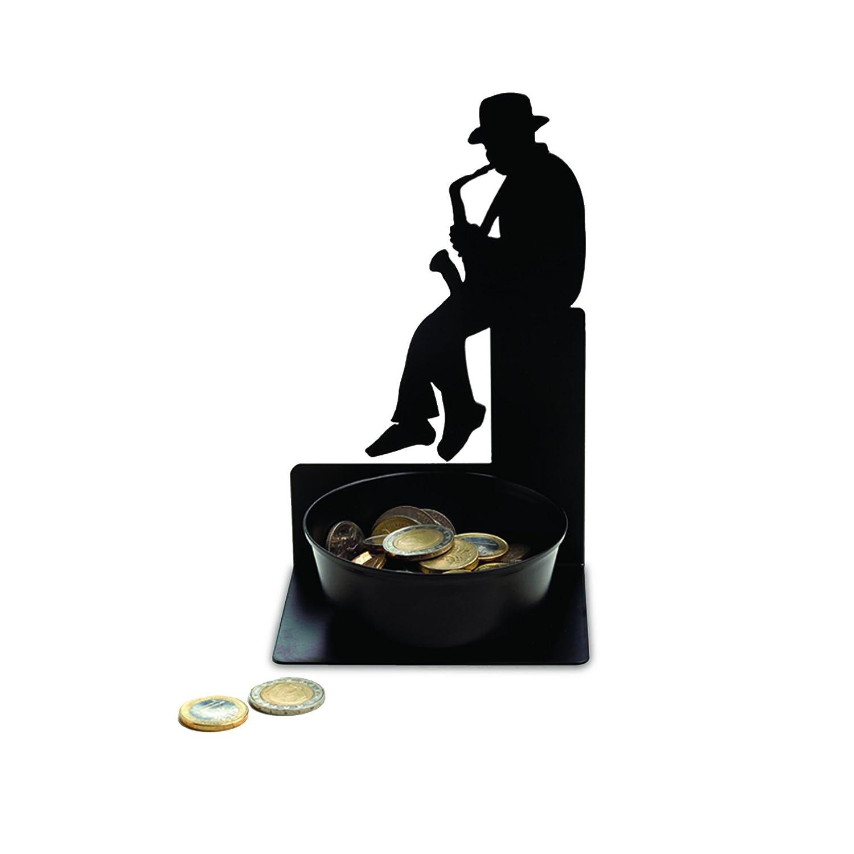 Artori Design Spare Some Change; Saxophonist Coin Holder, Decorative Dollar Coin Holder AD110