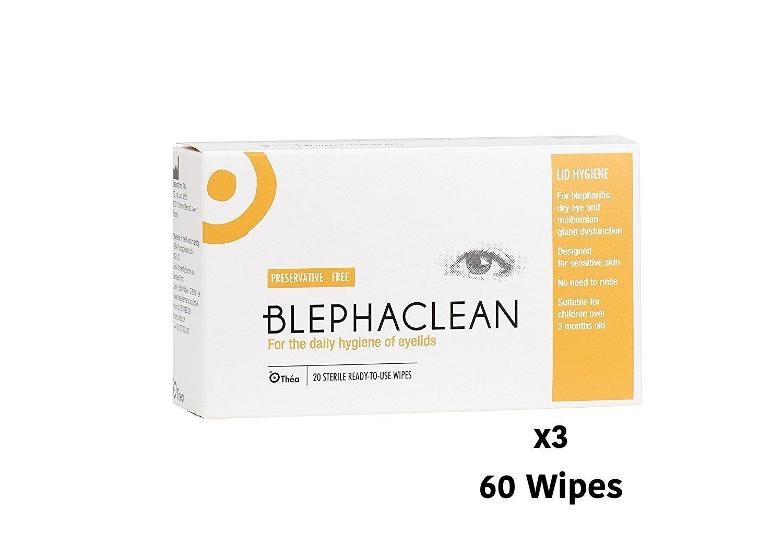 60 BLEPHACLEAN Sterile Eyelid Wipes For BLEPHARITIS FREEPOST by Thea