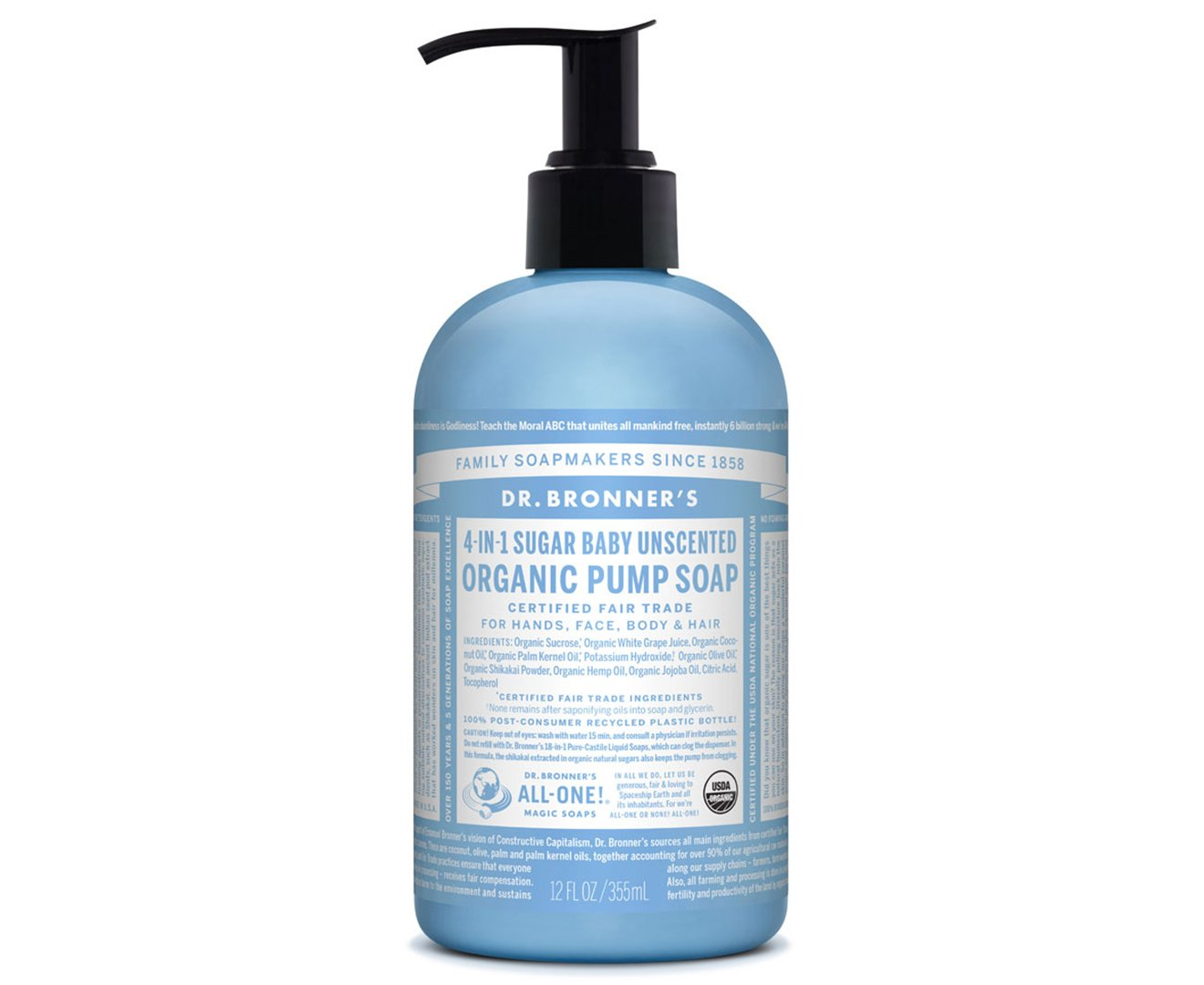 Dr. Bronner's Magic Soap Naked Unscented Hand Soap, 355-Milliliter Dr. Bronner' s Magic Soap 704