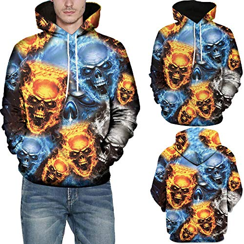 Wobuoke Unisex Mode 3D Print Long Sleeve Halloween