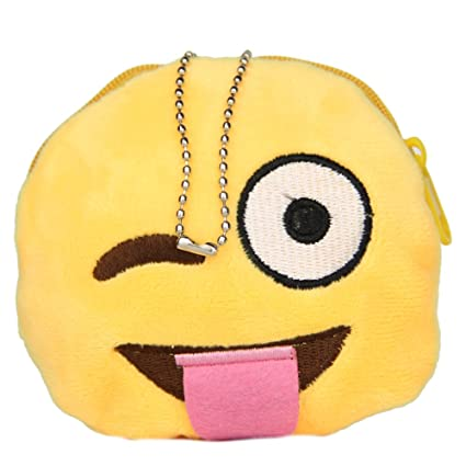 Vktech® diseño de emoticono redondo monedero Smiley bolso ...