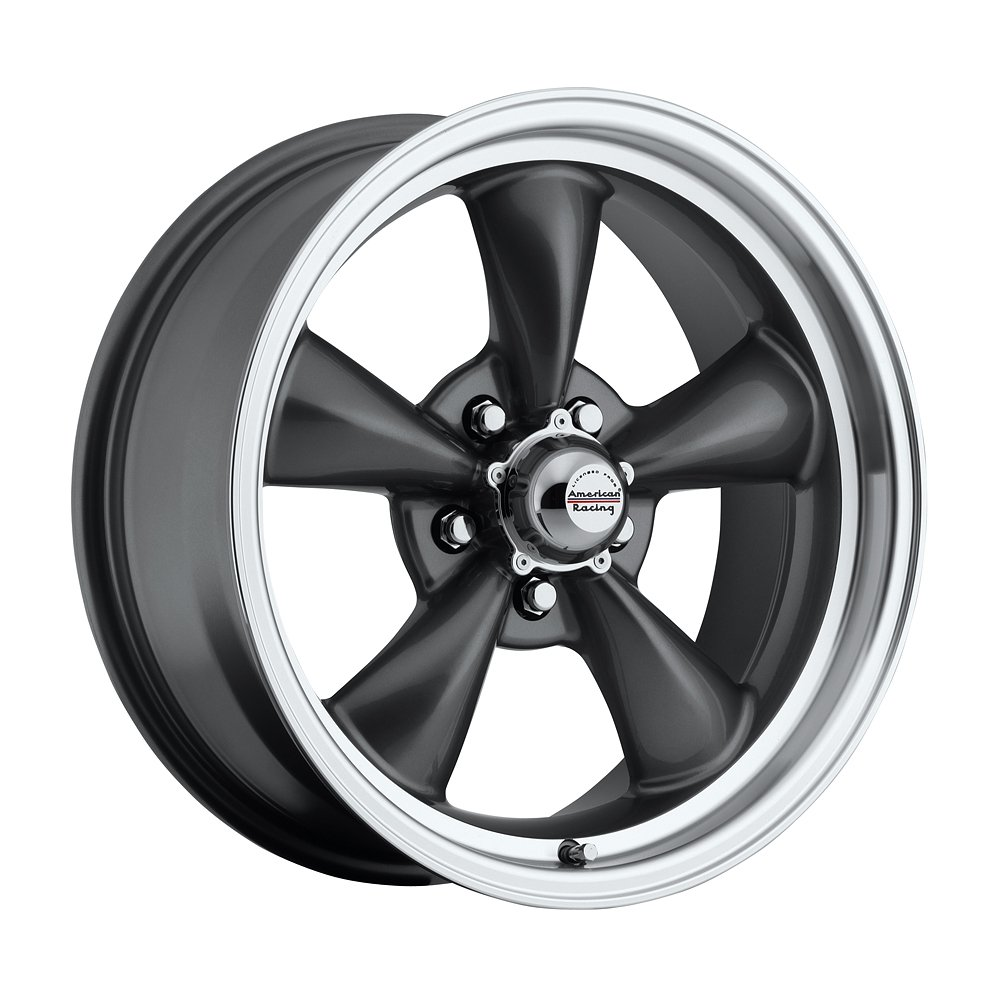 17 inch 17x7 17x8 100 s classic series charcoal gray aluminum wheels rims licensed from american racing 5x4 50 ford lug pattern 0 offset 4 00 and