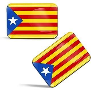 Pegatina de la bandera de Cataluña Estelada blava Cataluña adhesivo: Amazon.es: Coche y moto