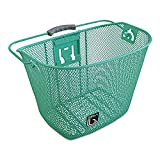 Bicycle Basket with Bracket Green, Front Quick Release Basket, Removable, Wire Mesh Bicycle basket, NEW, Green