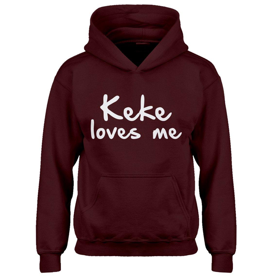 Kids Hoodie Keke Loves Me X-Small Maroon Hoodie
